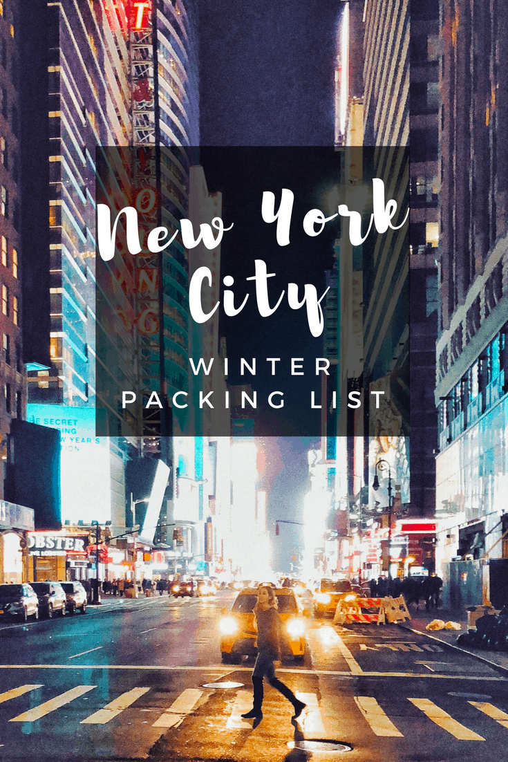 Winter Packing List
