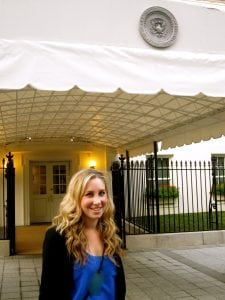 Getting ready for a tour of the West Wing of the White House