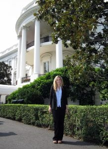 White House lawn during OA internship