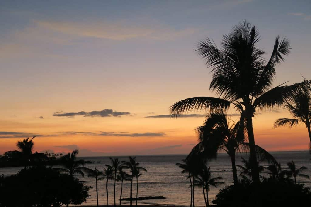 mauna lani bay sunset big island hawaii