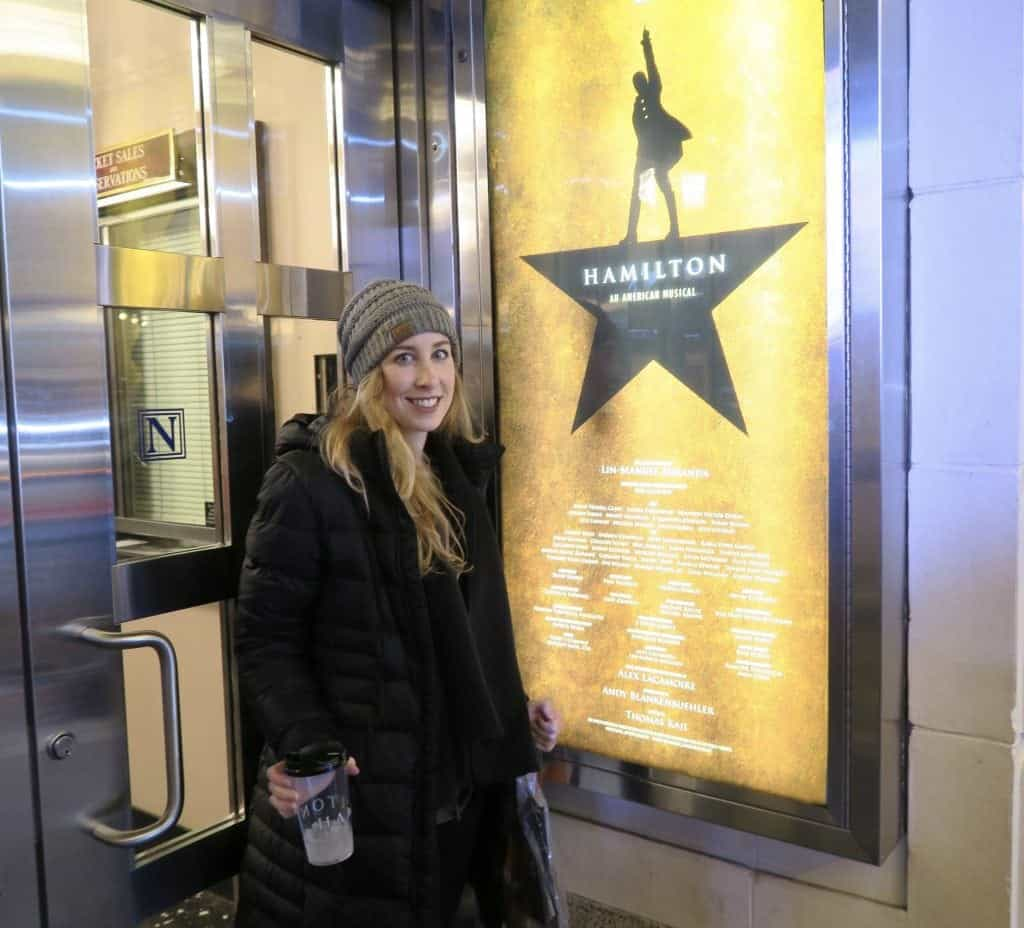 Hamilton on Broadway in New York City