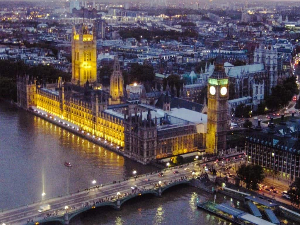 5 Days in London Itinerary London Eye View