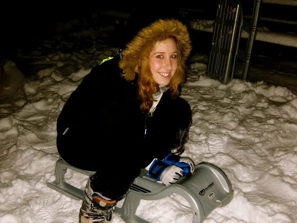night sledding Interlaken, Switzerland
