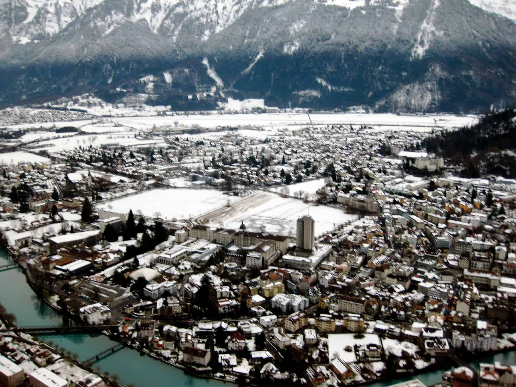 "View from Paragliding Interlaken in ""Best Hostels in Europe for Solo Travelers & Backpackers"""