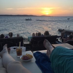 Hula Hula Beach Bar Hvar, Croatia sunset