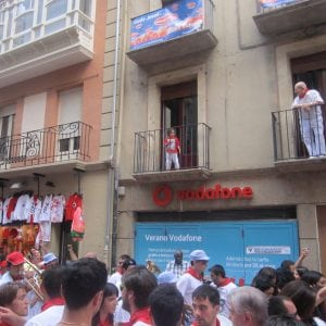 streets of Pamplona during running of the bulls