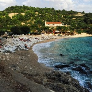 beach in Hvar, Croatia