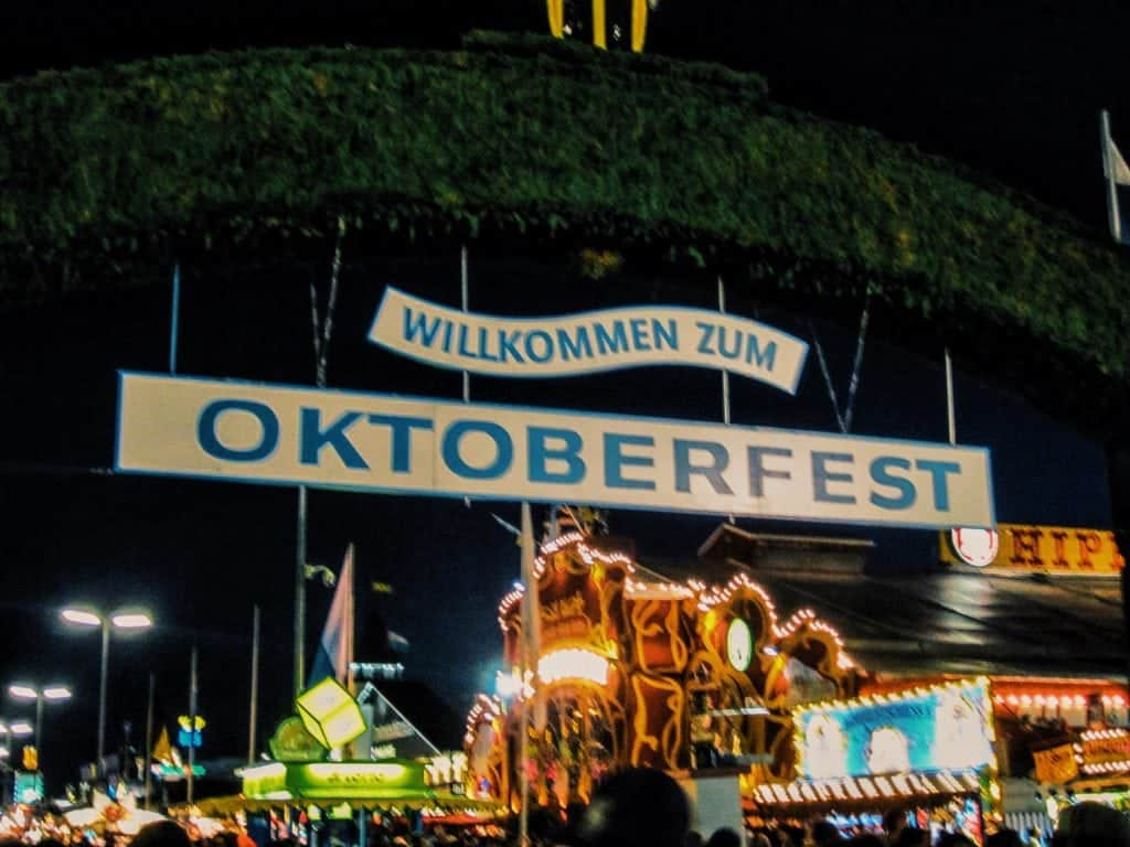 Oktoberfest Munich, Germany entrance