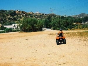 Mykonos quad ride Paradise Beach Liebster Award
