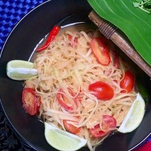Spicy Papaya Salad Lao Cuisine