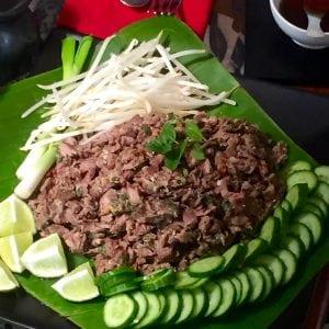 Minced Beef Salad Lao Cuisine