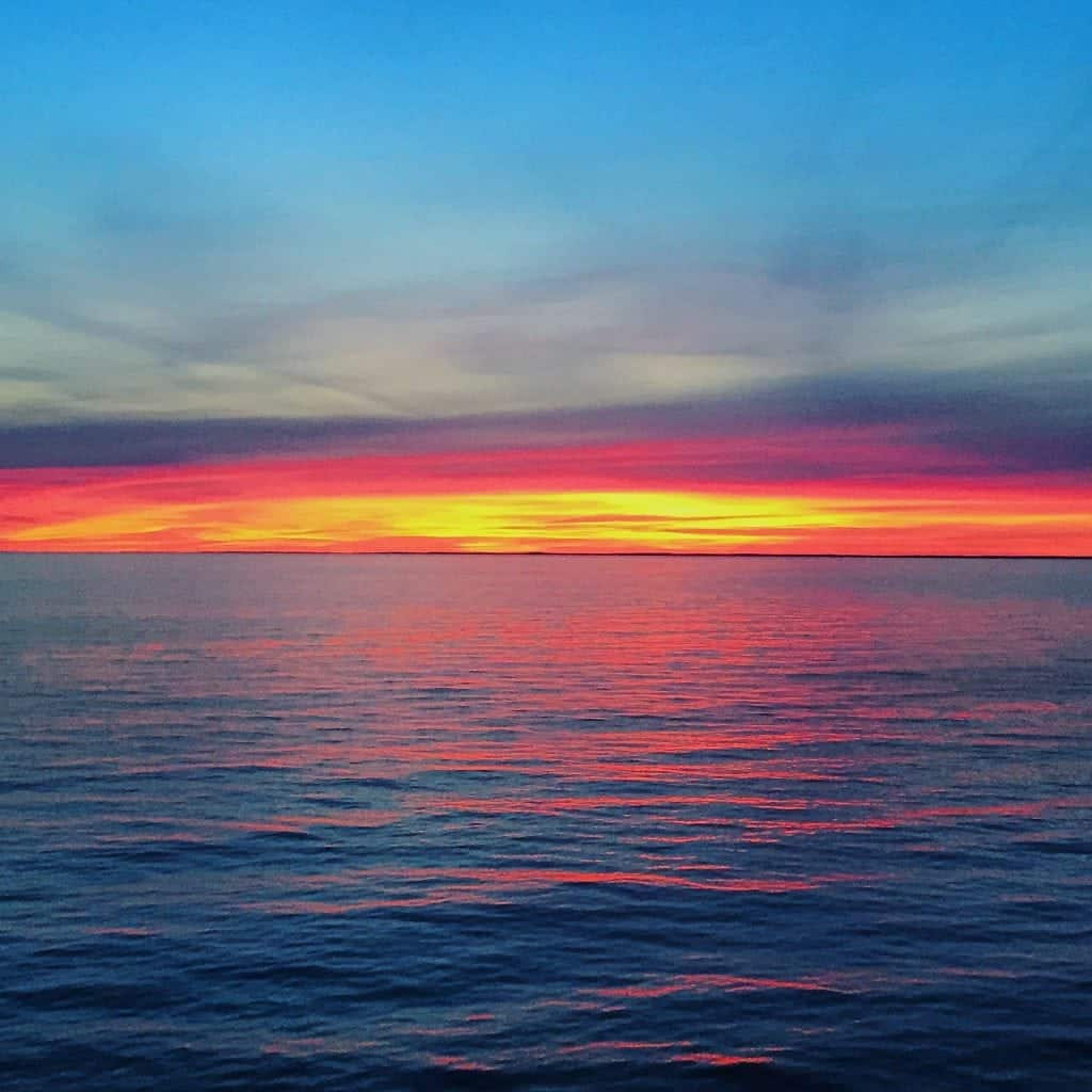 Baltic Sea Cruise sunset from Regal Princess