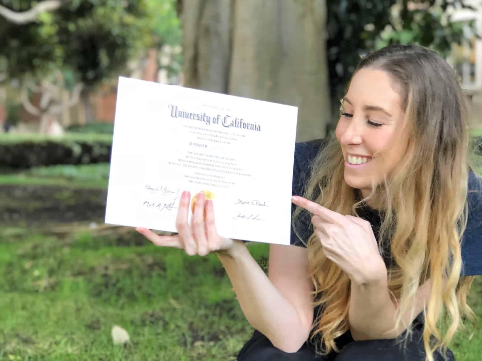 UCLA college diploma
