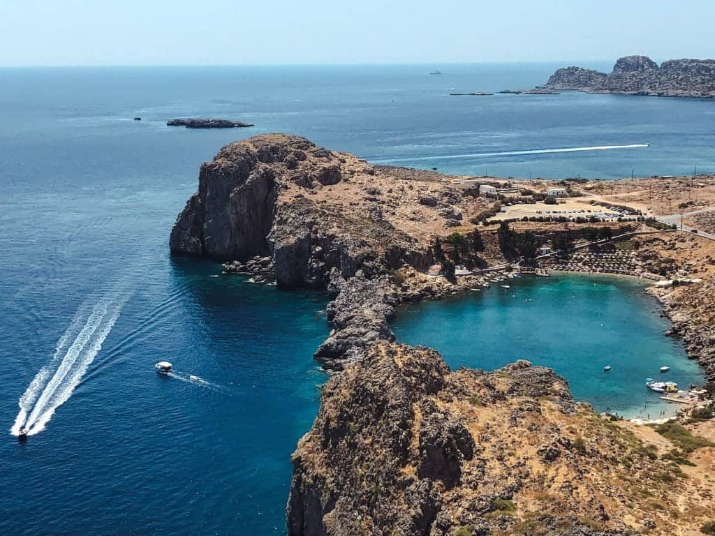 Greek Island Hopping itinerary Routes Lindos, Rhodes