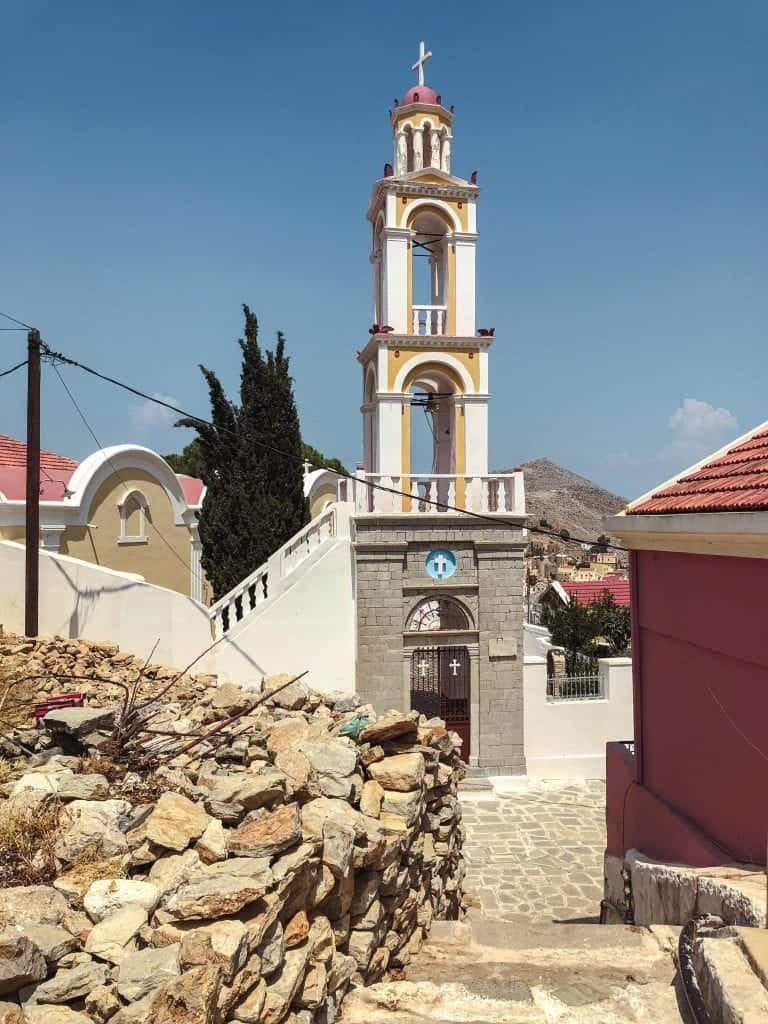 Symi church Rhodes to Symi Day Trip