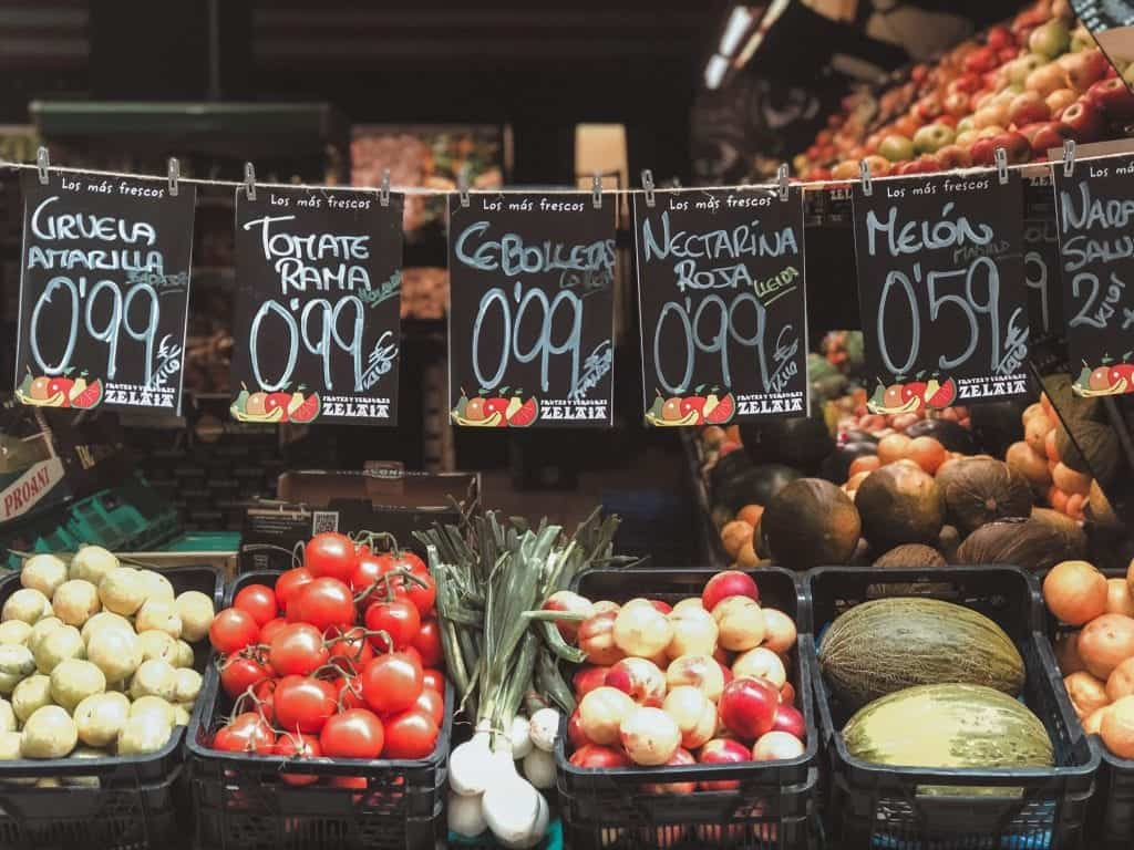 market in Bilbao