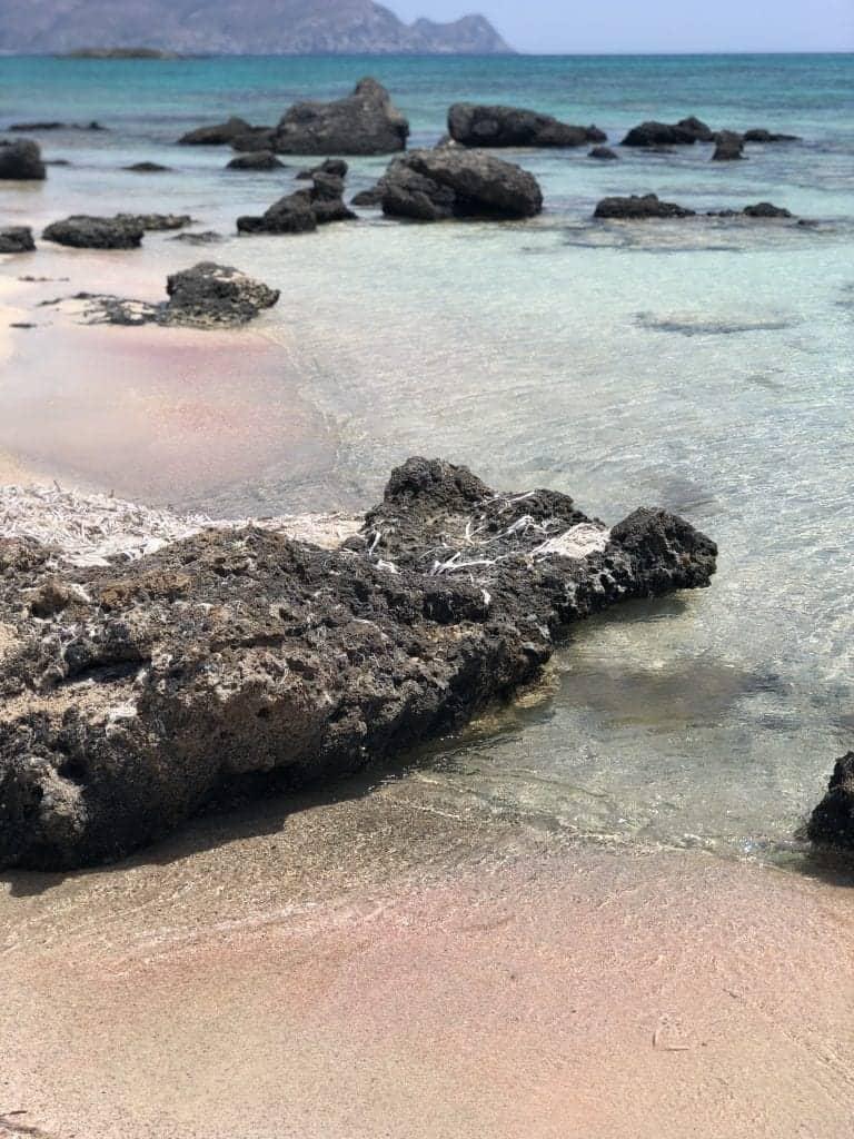 Elafonissi Beach pink beach Crete