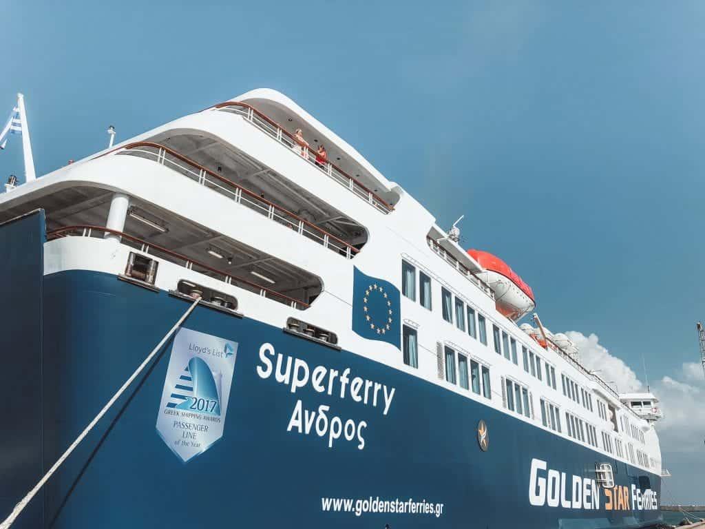 Athens to paros ferry