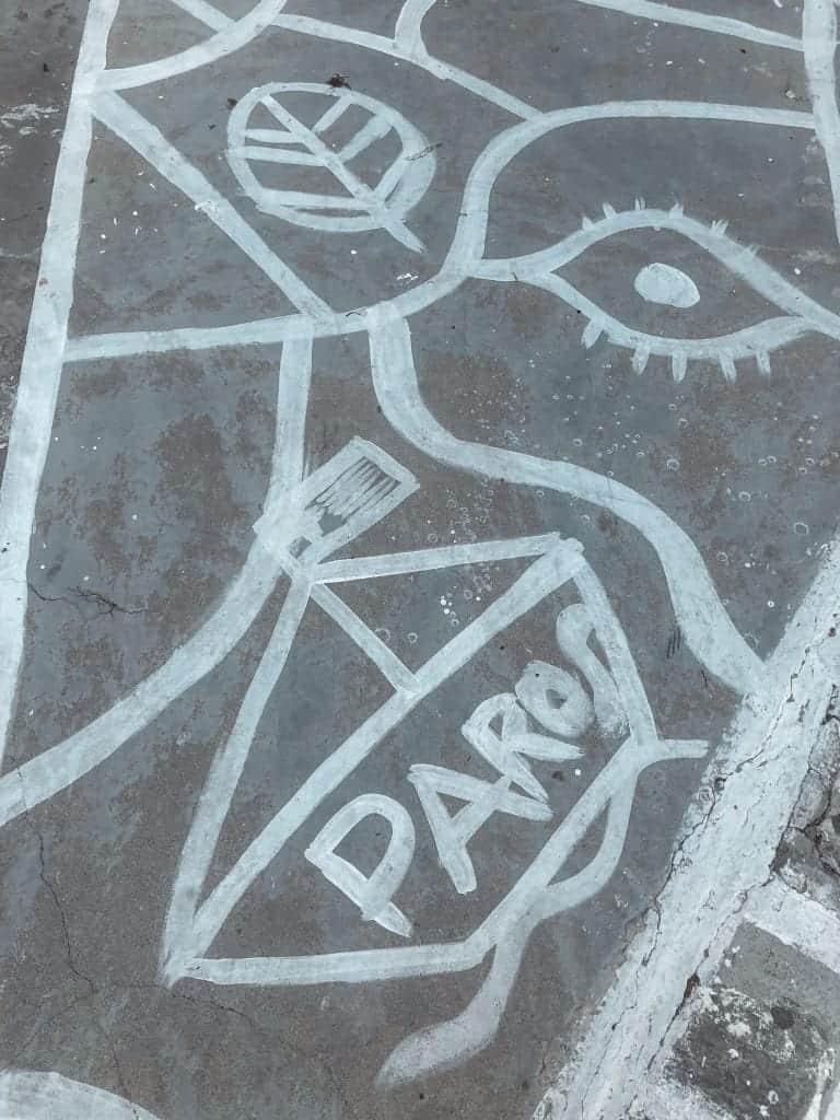 Paros Sidewalk art