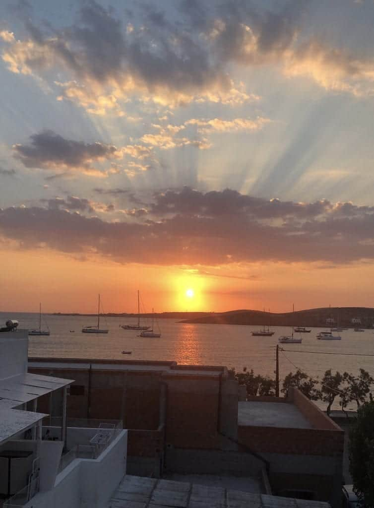 Parikia sunset best things to do in Paros