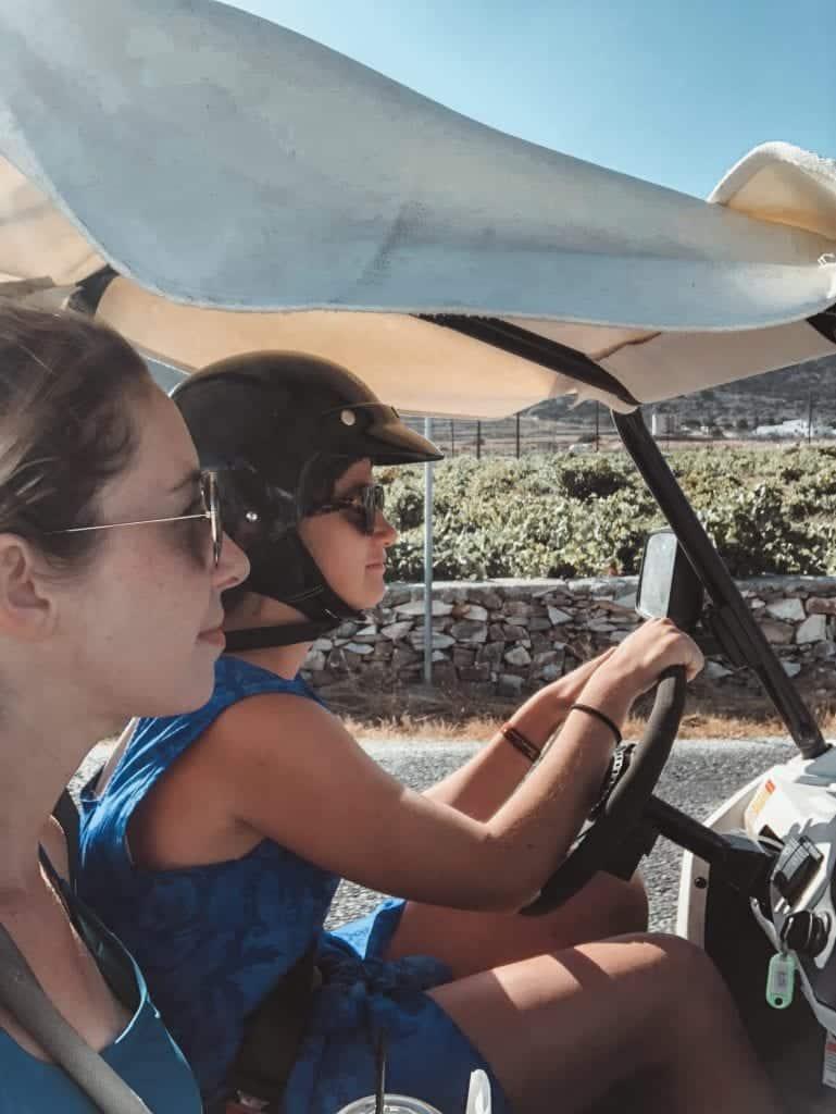 dune buggy in Paros