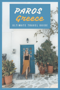 Paros Greece Itinerary