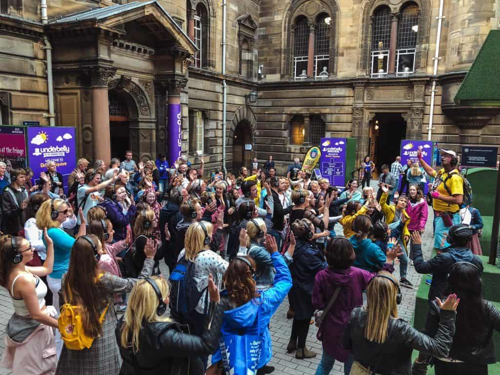 Edinburgh Festival Fringe silent disco