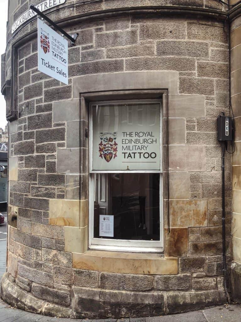 Edinburgh Festivals in August - Tattoo box office