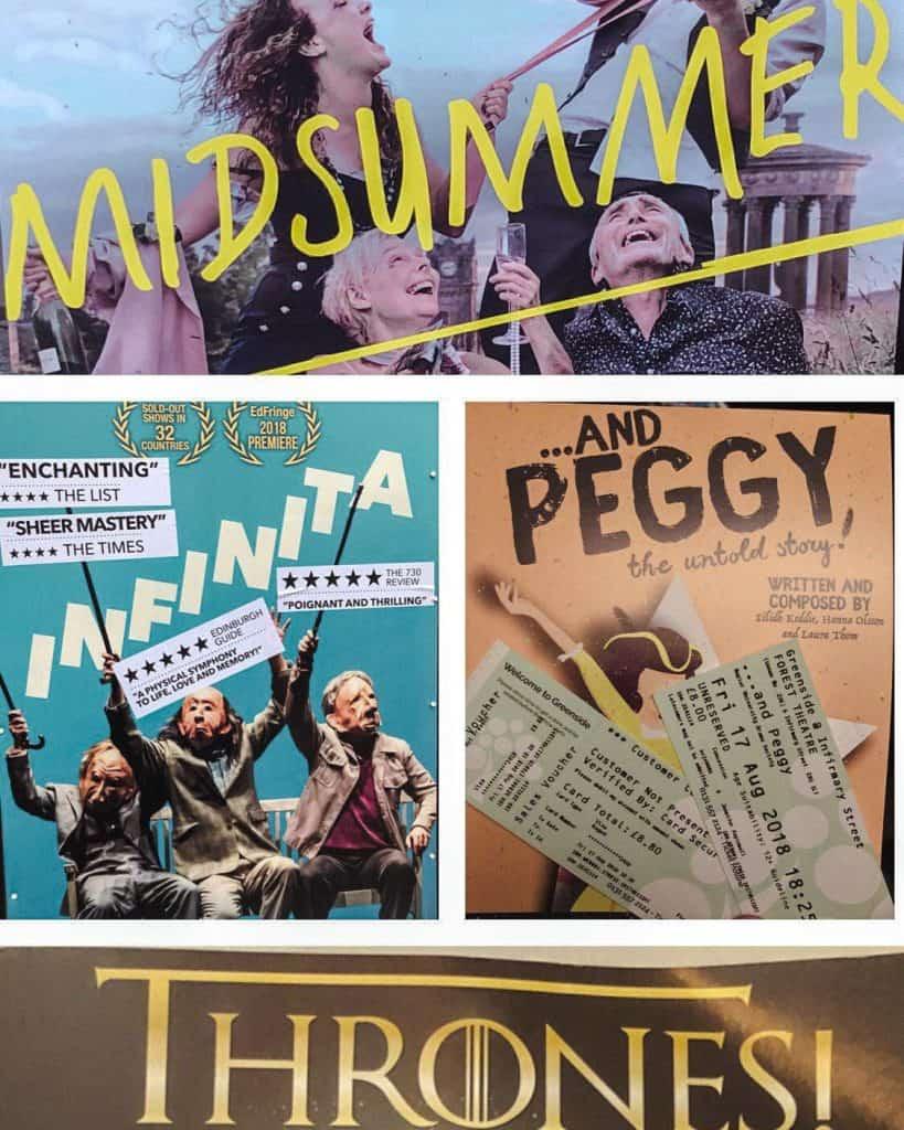 Edinburgh Festivals playbills