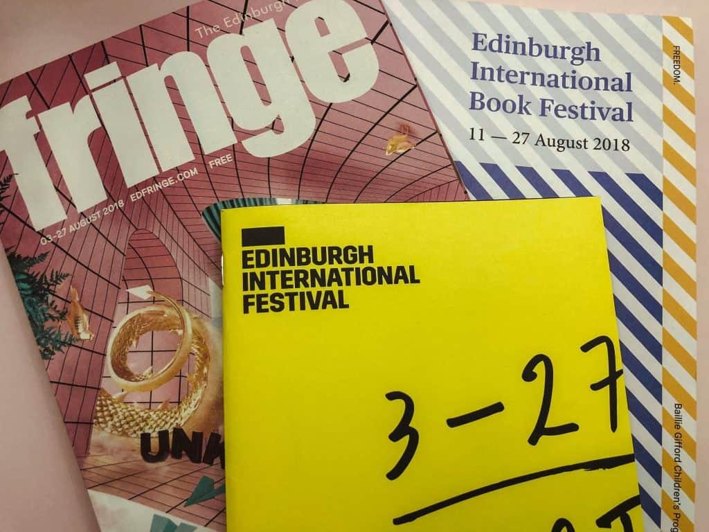 Edinburgh Festivals in August brochures