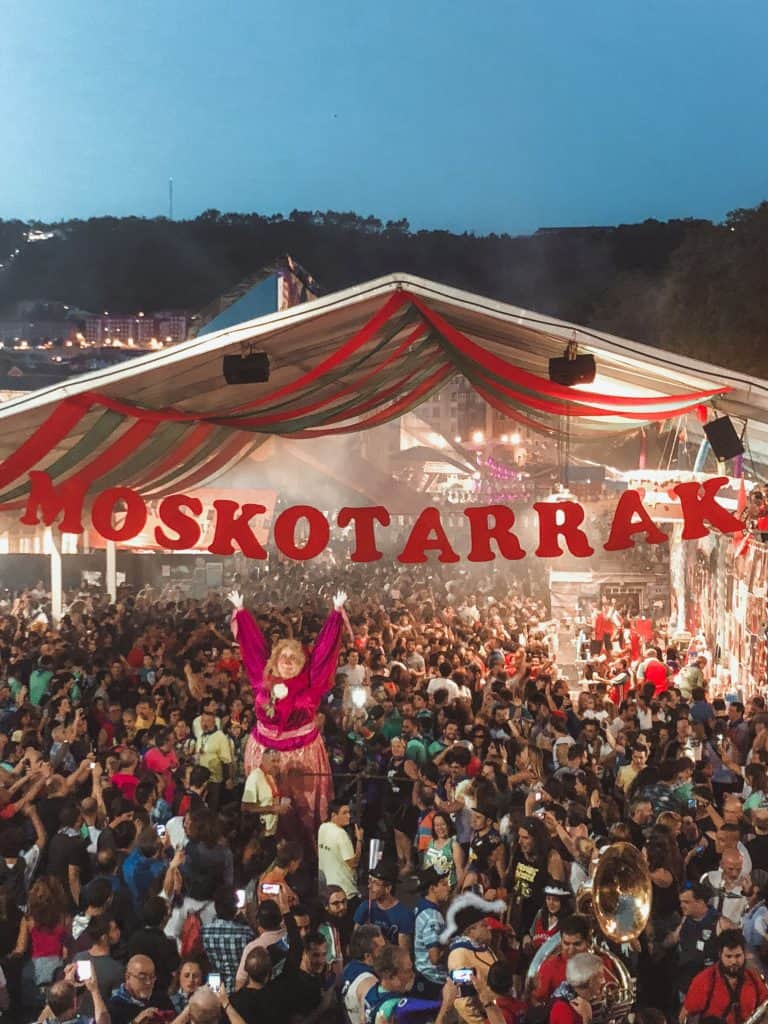 Semana Grande Bilbao festival mascot Marijaia