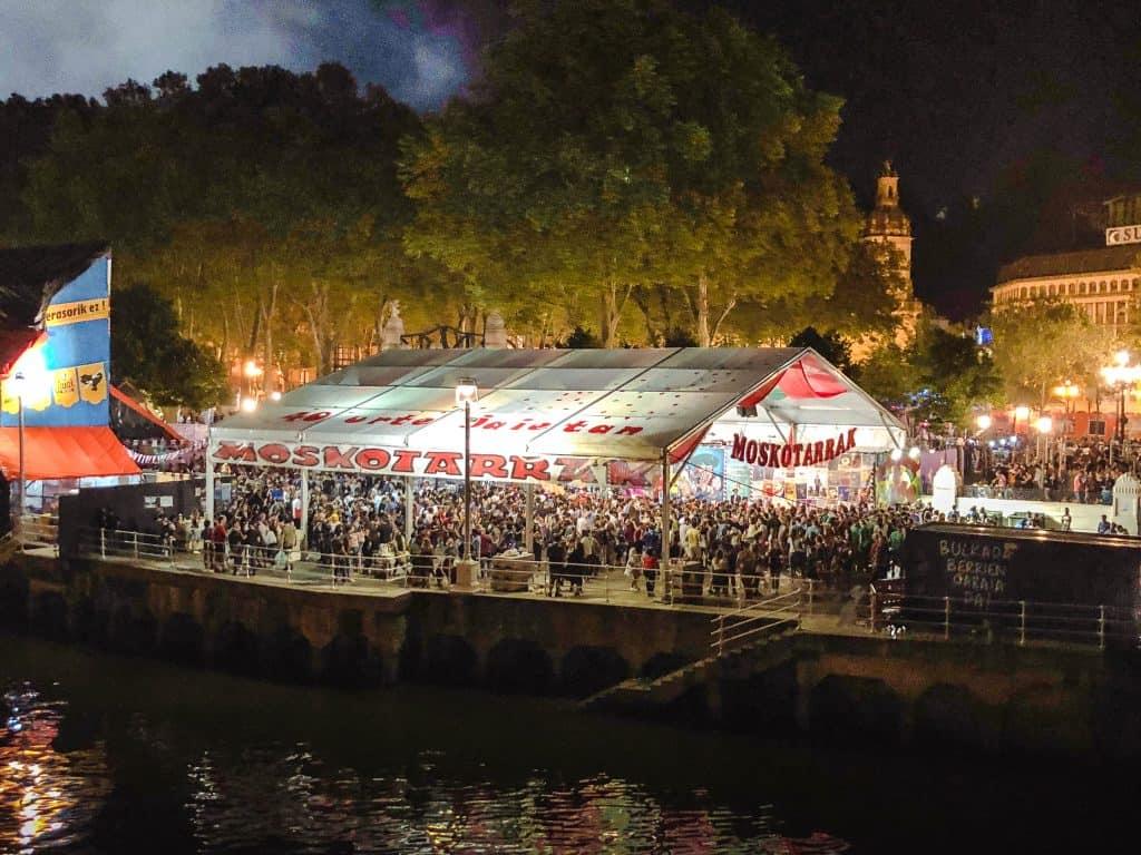 Semana Grande Bilbao txosna tent