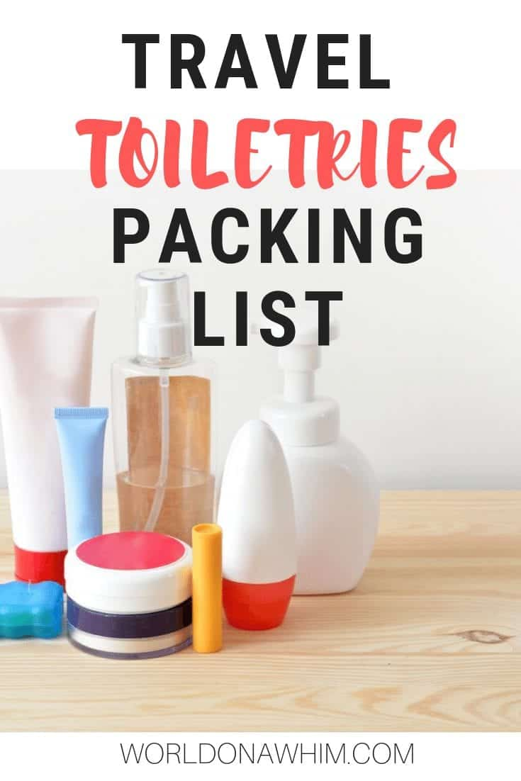 packing list toiletries