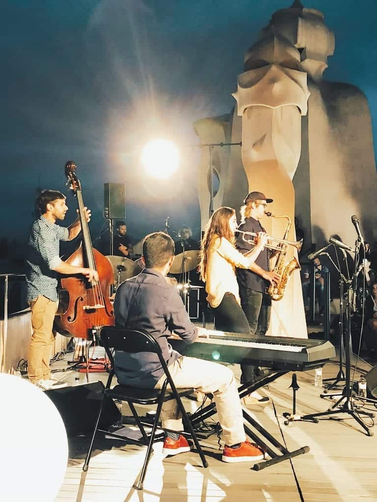 jazz night at La Pedrera during weekend in Barcelona