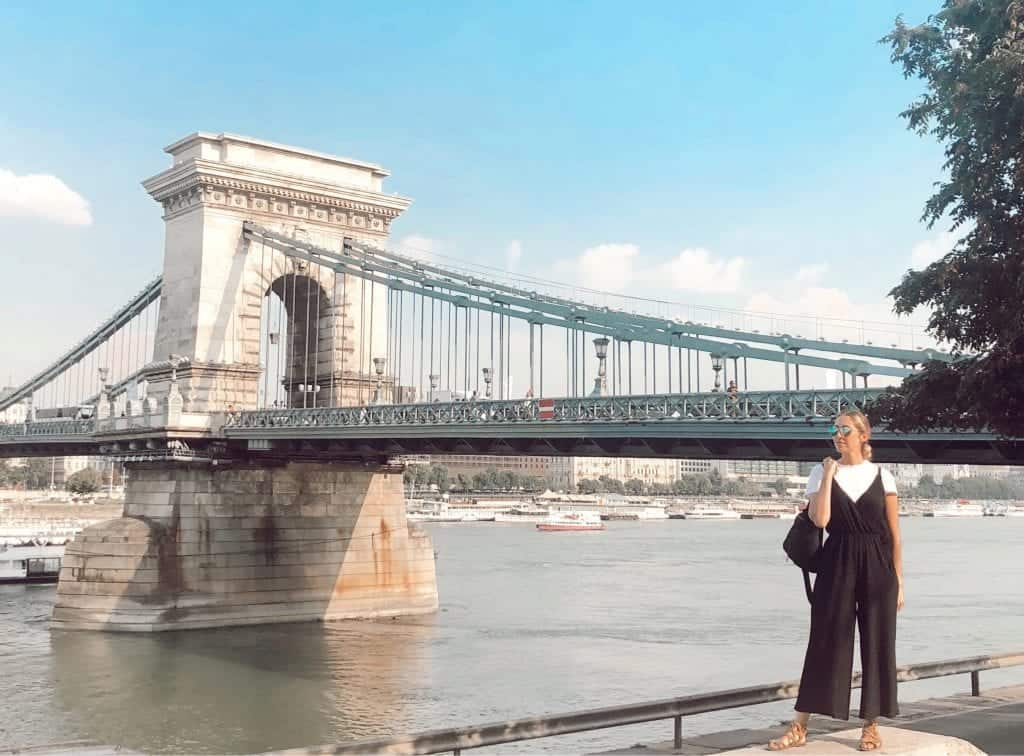 summer travel outfit in Budapest, Hungary