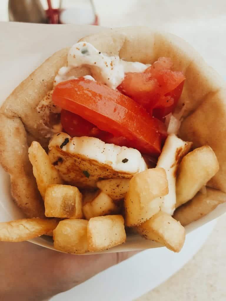 halloumi pita Greece