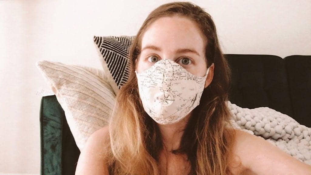 travel inspired face mask