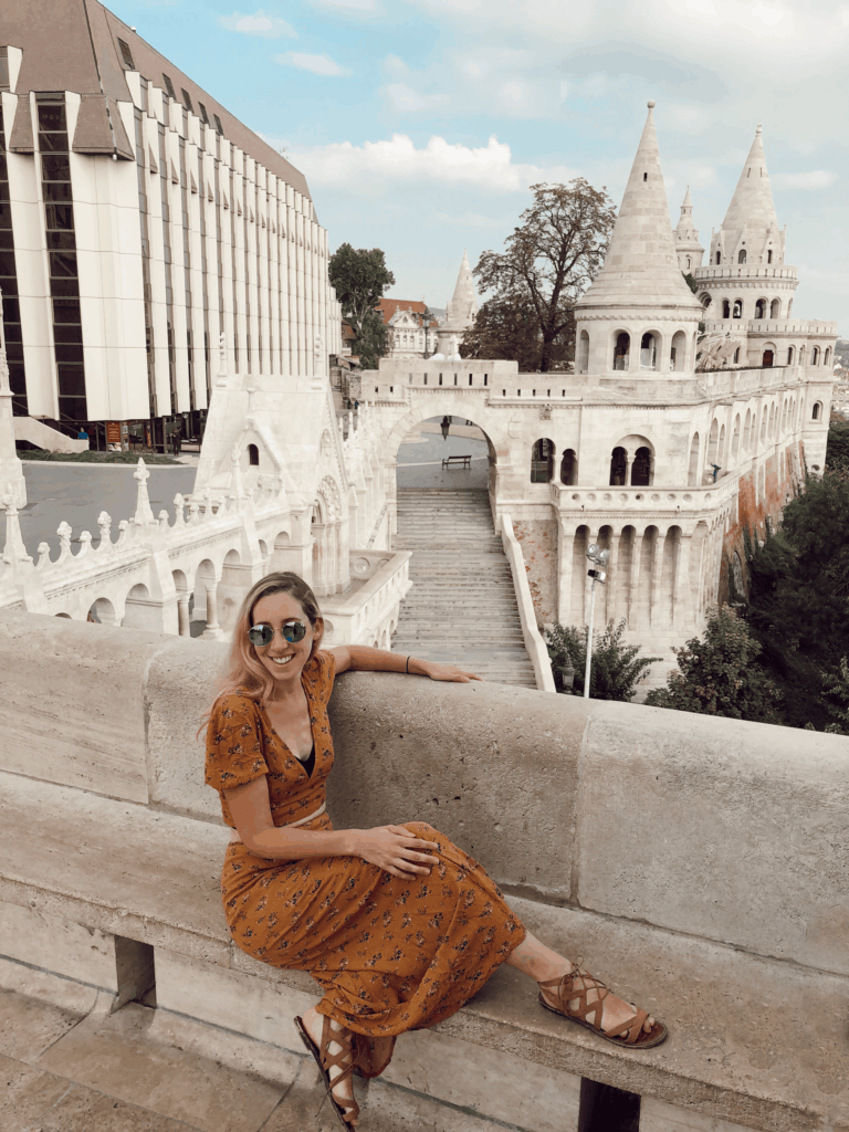 skirt and shirt set in Budapest