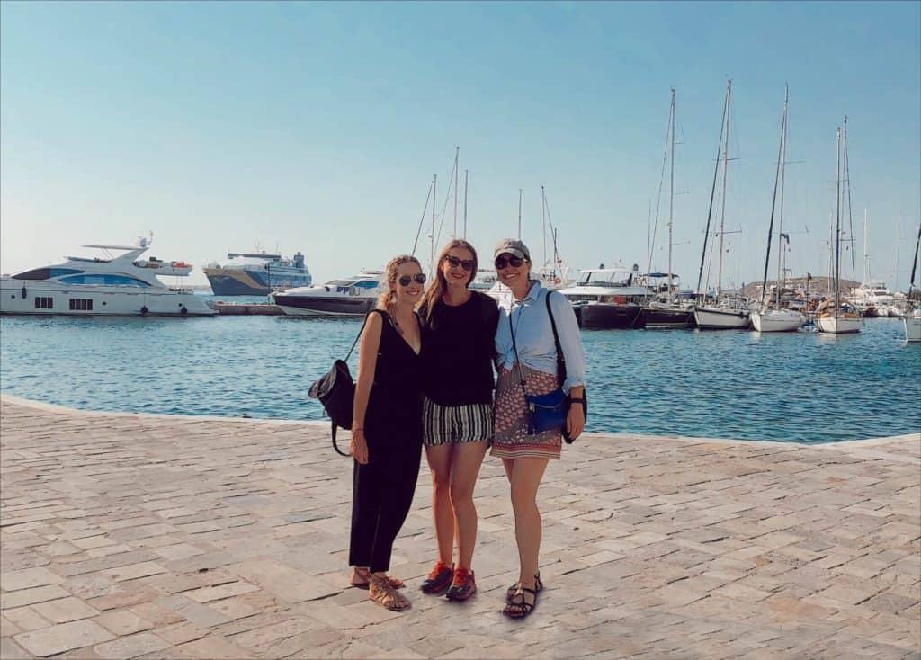 Greek Island Hopping Girls Trip