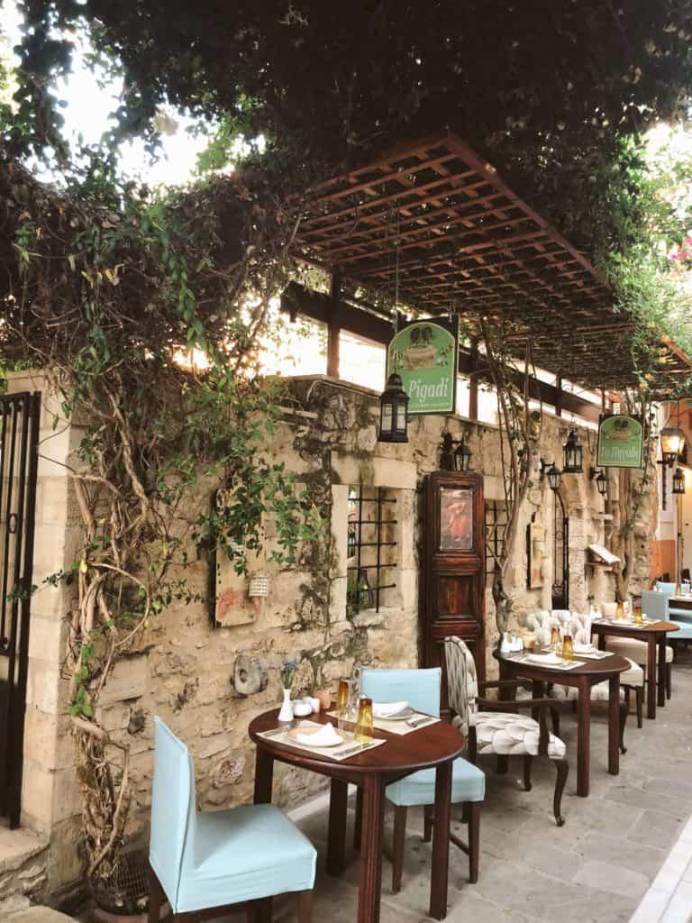 restaurant in Crete Greece