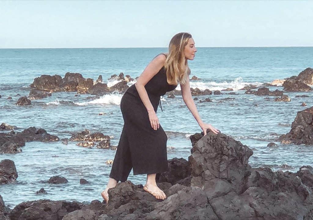 climbing rocks in Hawaii