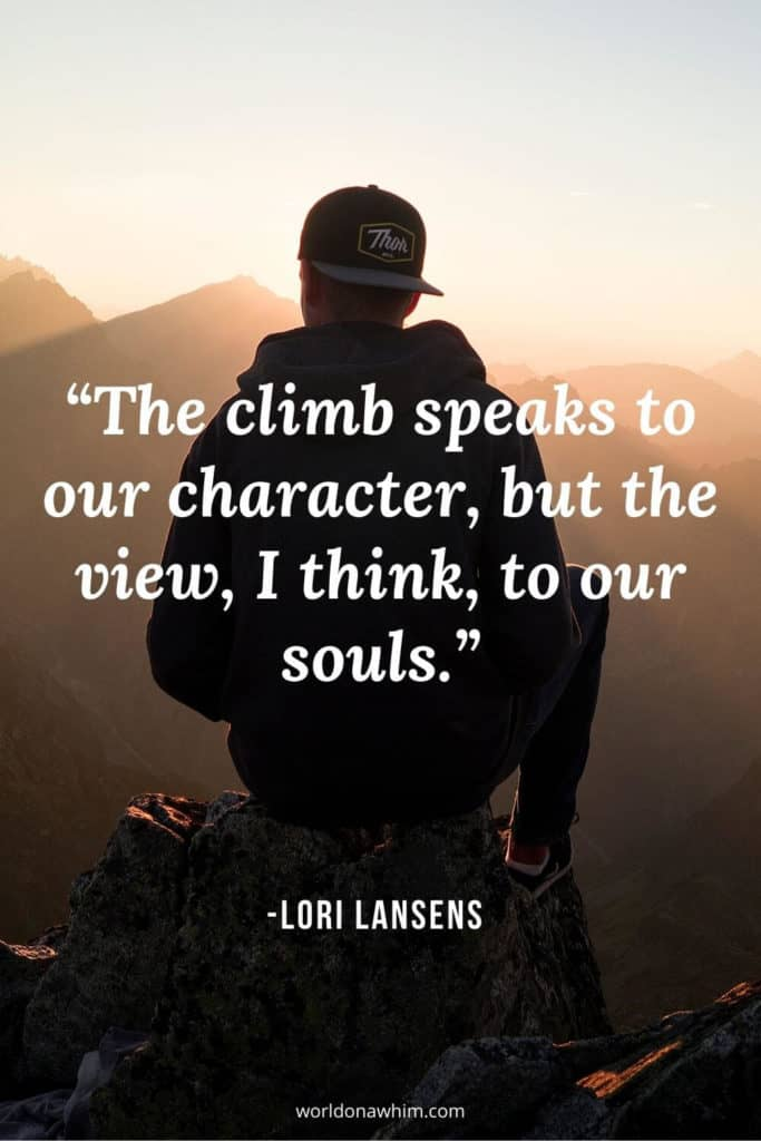 climb mountain quotes