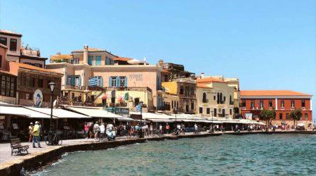 Chania harbor Crete Greece